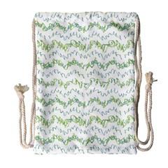 Wavy Linear Seamless Pattern Design  Drawstring Bag (large)