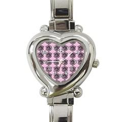 Three Women Pink Heart Italian Charm Watch
