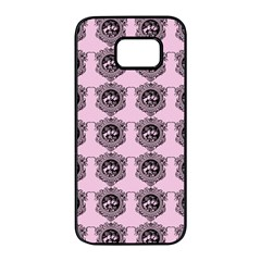 Three Women Pink Samsung Galaxy S7 Edge Black Seamless Case