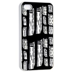 Numbers Cards 7898 Apple Iphone 4/4s Seamless Case (white)