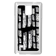 Numbers Cards 7898 Samsung Galaxy Note 4 Case (white)