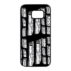 Numbers Cards 7898 Samsung Galaxy S7 Edge Black Seamless Case