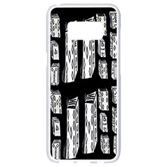 Numbers Cards 7898 Samsung Galaxy S8 White Seamless Case