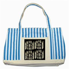 Numbers Cards 7898 Striped Blue Tote Bag