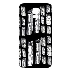 Numbers Cards 7898 Samsung Galaxy S5 Back Case (white)