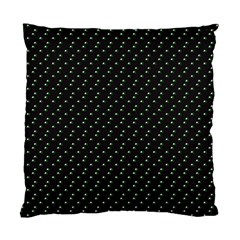 Pink Flowers On Black Standard Cushion Case (two Sides)