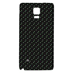 Pink Flowers On Black Galaxy Note 4 Back Case
