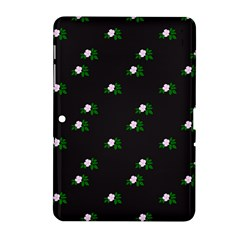 Pink Flowers On Black Big Samsung Galaxy Tab 2 (10 1 ) P5100 Hardshell Case