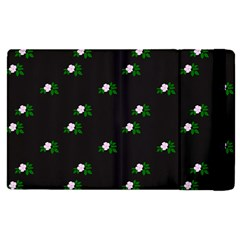 Pink Flowers On Black Big Apple Ipad Pro 12 9   Flip Case