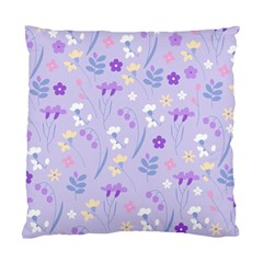 Violet,lavender,cute,floral,pink,purple,pattern,girly,modern,trendy Standard Cushion Case (two Sides)