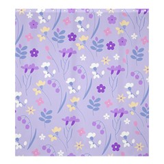 Violet,lavender,cute,floral,pink,purple,pattern,girly,modern,trendy Shower Curtain 66  X 72  (large)