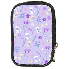 Violet,lavender,cute,floral,pink,purple,pattern,girly,modern,trendy Compact Camera Cases