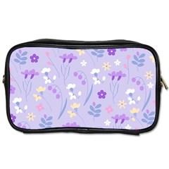 Violet,lavender,cute,floral,pink,purple,pattern,girly,modern,trendy Toiletries Bags 2 Side