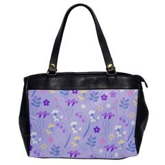 Violet,lavender,cute,floral,pink,purple,pattern,girly,modern,trendy Office Handbags