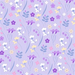 Violet,lavender,cute,floral,pink,purple,pattern,girly,modern,trendy Magic Photo Cubes