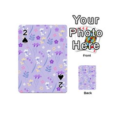 Violet,lavender,cute,floral,pink,purple,pattern,girly,modern,trendy Playing Cards 54 (mini)
