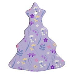 Violet,lavender,cute,floral,pink,purple,pattern,girly,modern,trendy Ornament (christmas Tree)
