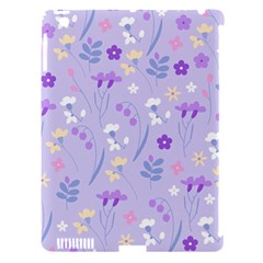 Violet,lavender,cute,floral,pink,purple,pattern,girly,modern,trendy Apple Ipad 3/4 Hardshell Case (compatible With Smart Cover)