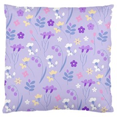 Violet,lavender,cute,floral,pink,purple,pattern,girly,modern,trendy Large Cushion Case (one Side)