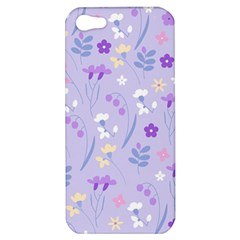 Violet,lavender,cute,floral,pink,purple,pattern,girly,modern,trendy Apple Iphone 5 Hardshell Case