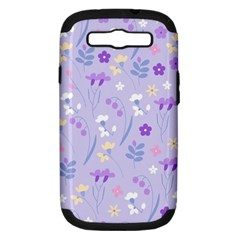 Violet,lavender,cute,floral,pink,purple,pattern,girly,modern,trendy Samsung Galaxy S Iii Hardshell Case (pc+silicone)