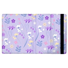 Violet,lavender,cute,floral,pink,purple,pattern,girly,modern,trendy Apple Ipad 2 Flip Case
