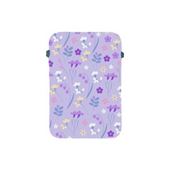 Violet,lavender,cute,floral,pink,purple,pattern,girly,modern,trendy Apple Ipad Mini Protective Soft Cases