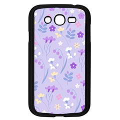 Violet,lavender,cute,floral,pink,purple,pattern,girly,modern,trendy Samsung Galaxy Grand Duos I9082 Case (black)