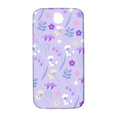 Violet,lavender,cute,floral,pink,purple,pattern,girly,modern,trendy Samsung Galaxy S4 I9500/i9505  Hardshell Back Case