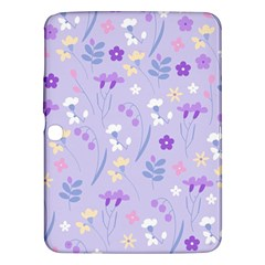 Violet,lavender,cute,floral,pink,purple,pattern,girly,modern,trendy Samsung Galaxy Tab 3 (10 1 ) P5200 Hardshell Case