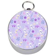 Violet,lavender,cute,floral,pink,purple,pattern,girly,modern,trendy Silver Compasses