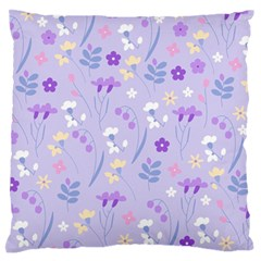 Violet,lavender,cute,floral,pink,purple,pattern,girly,modern,trendy Large Flano Cushion Case (two Sides)