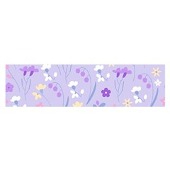 Violet,lavender,cute,floral,pink,purple,pattern,girly,modern,trendy Satin Scarf (oblong)