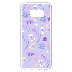 Violet,lavender,cute,floral,pink,purple,pattern,girly,modern,trendy Samsung Galaxy S8 Plus White Seamless Case