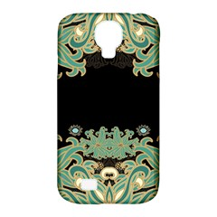 Black,green,gold,art Nouveau,floral,pattern Samsung Galaxy S4 Classic Hardshell Case (pc+silicone)