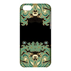 Black,green,gold,art Nouveau,floral,pattern Apple Iphone 5c Hardshell Case