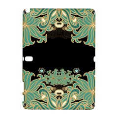 Black,green,gold,art Nouveau,floral,pattern Galaxy Note 1