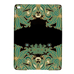 Black,green,gold,art Nouveau,floral,pattern Ipad Air 2 Hardshell Cases