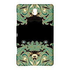Black,green,gold,art Nouveau,floral,pattern Samsung Galaxy Tab S (8 4 ) Hardshell Case