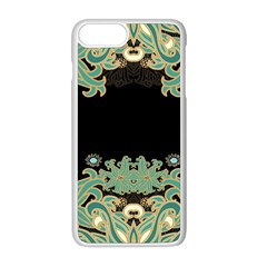 Black,green,gold,art Nouveau,floral,pattern Apple Iphone 8 Plus Seamless Case (white)
