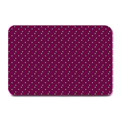 Pink Flowers Magenta Plate Mats