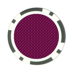 Pink Flowers Magenta Poker Chip Card Guard (10 Pack)