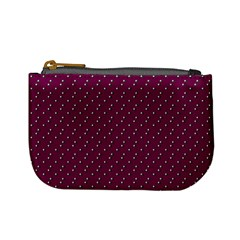 Pink Flowers Magenta Mini Coin Purses