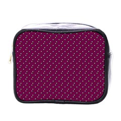 Pink Flowers Magenta Mini Toiletries Bags