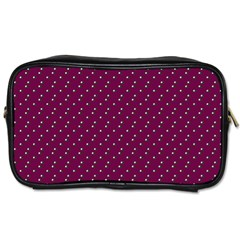 Pink Flowers Magenta Toiletries Bags
