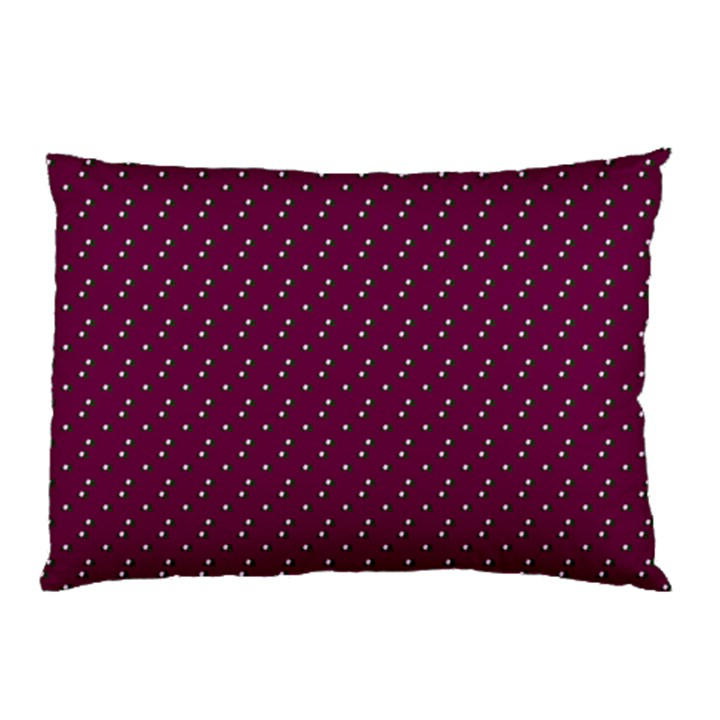 Pink Flowers Magenta Pillow Case (Two Sides)