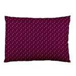 Pink Flowers Magenta Pillow Case (Two Sides) Back