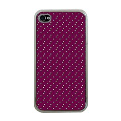 Pink Flowers Magenta Apple Iphone 4 Case (clear)