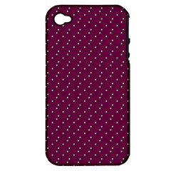 Pink Flowers Magenta Apple Iphone 4/4s Hardshell Case (pc+silicone)
