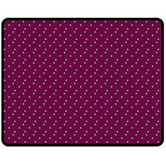 Pink Flowers Magenta Double Sided Fleece Blanket (medium)